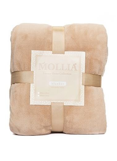 Mollia Soft Touch Tek Kişilik Battaniye Bej